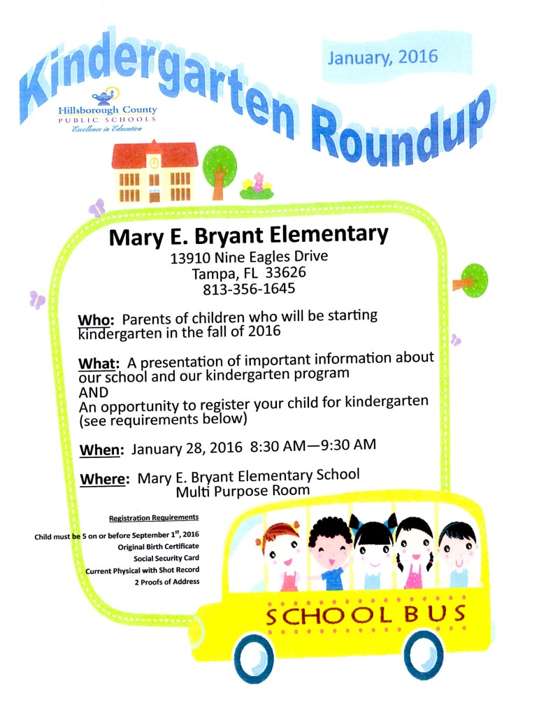 Kindergarten round up mary bryant elementary pta please share with all of your neighbors that have incoming kindergarteners aiddatafo Choice Image